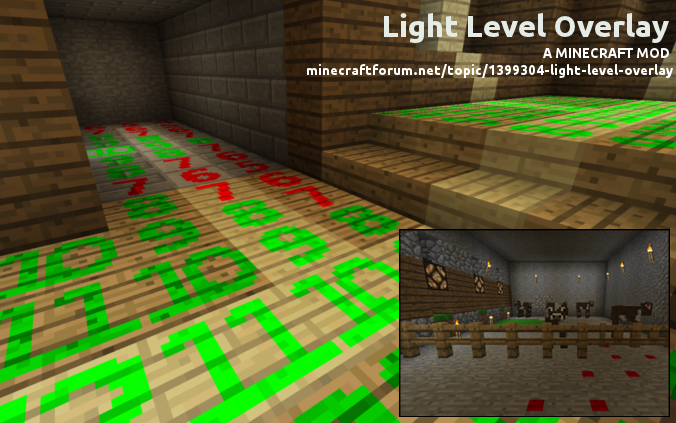 Light Level Overlay 1.6.1/1.5.2/1.5.1
