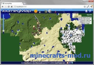 JourneyMap (Карта приключений) 1.6.4