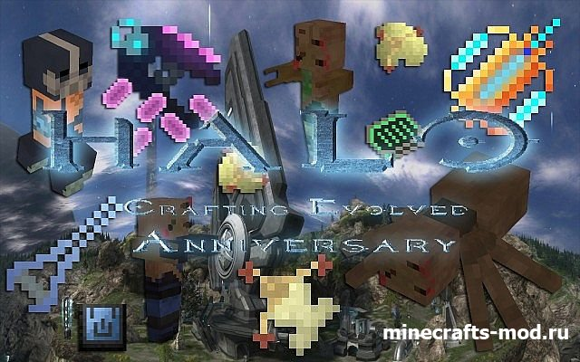 Halo: Crafting Evolved Anniversary (Спартанский стиль) [16x] 1.8